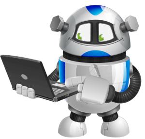 Chubby Robot - Maskotchen der secline UG